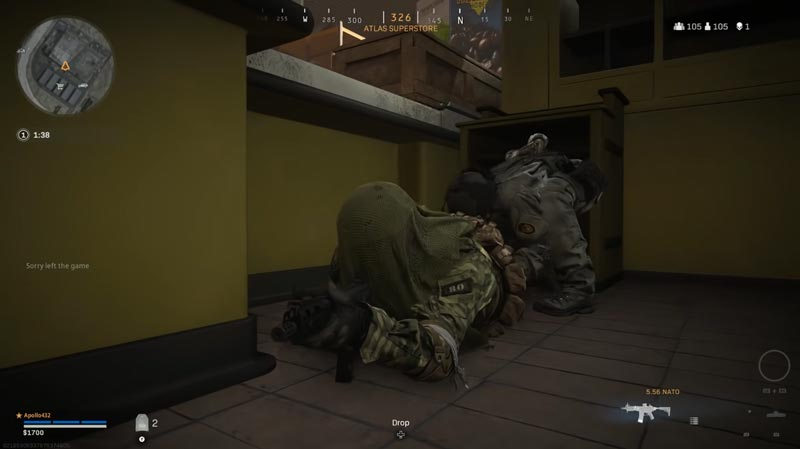 warzone bug