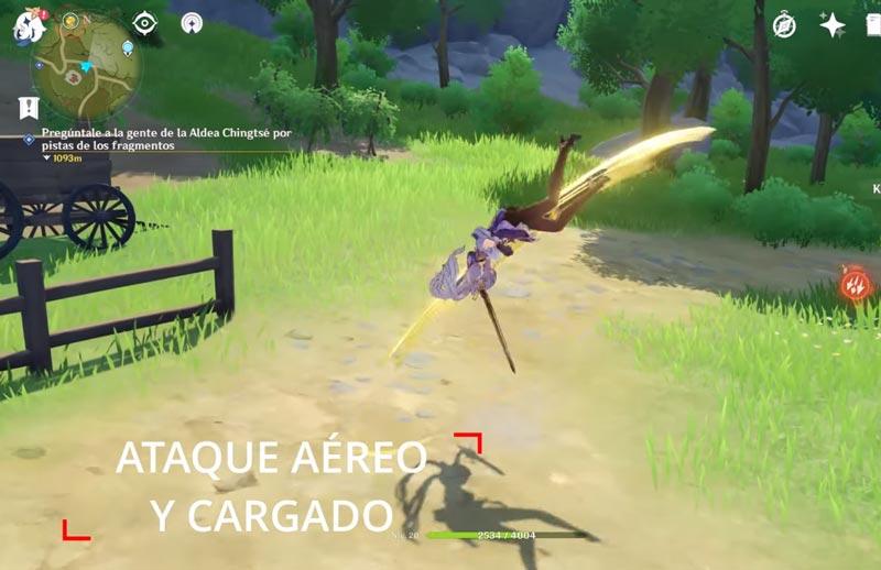 Ataque-aéreo-y-cargado-genshin-impact