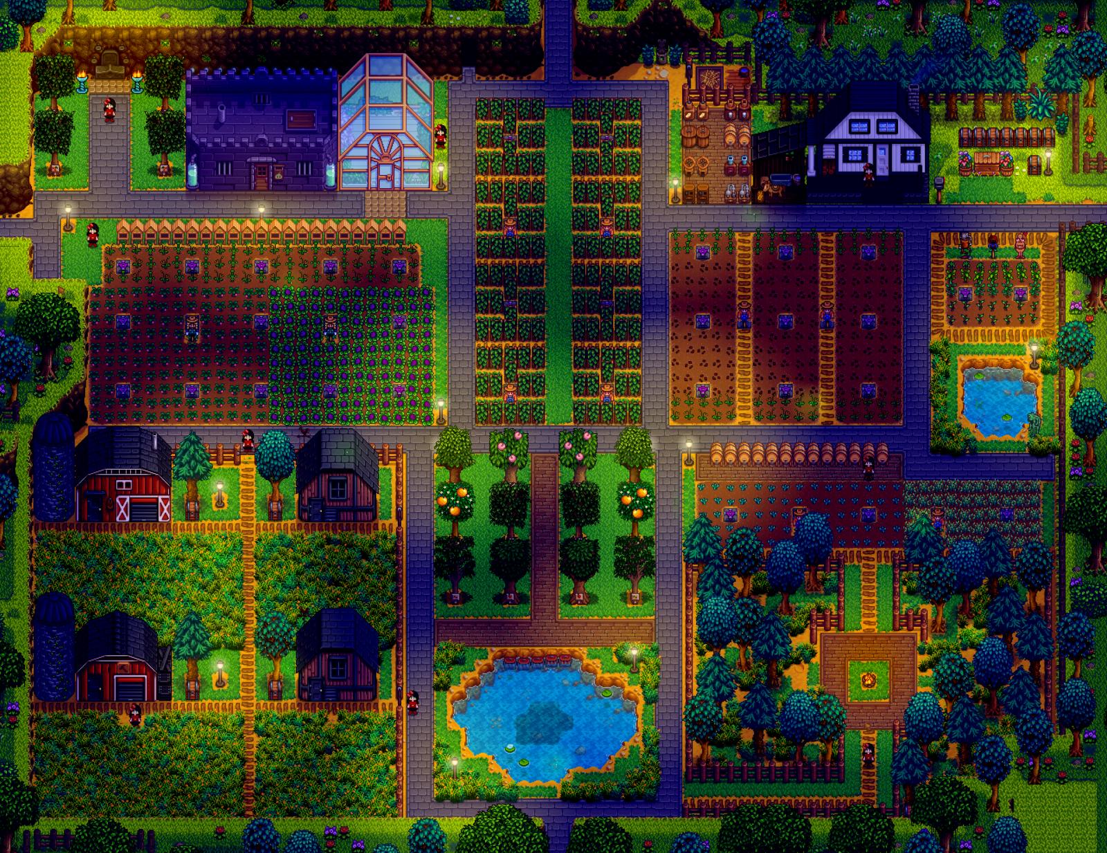 el mejor diseño de la granja de stardew valley