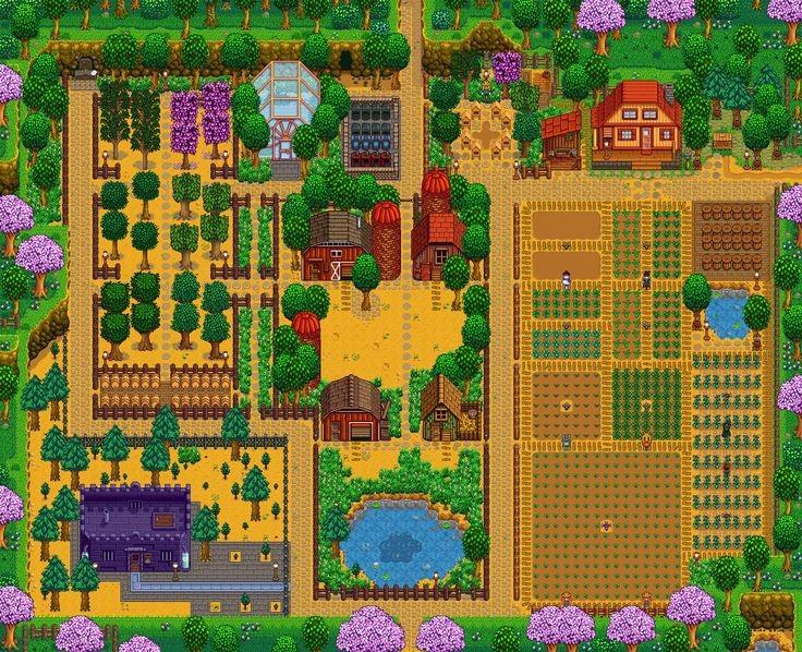 diseño único de la granja de Stardew Valley